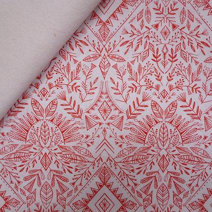 Fabric Felt :: Skogen :: Folk Snowflake on White