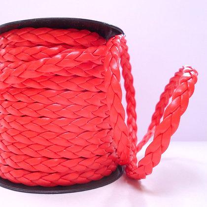 Faux Leather Plait :: Red