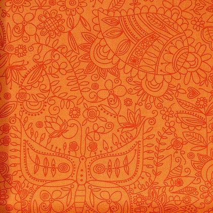 Fabric :: Soul Garden :: Orange