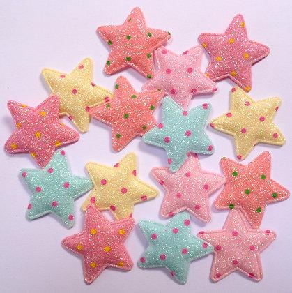 Padded Stars :: Pastel Fine Glitter & Polka Dots