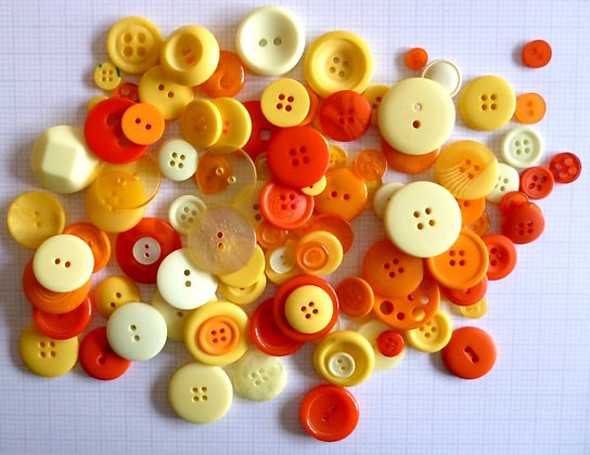 Buttons By Weight :: Orange & Yellow