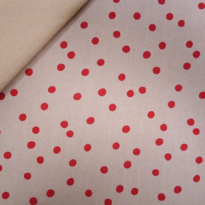 Fabric Felt :: Natural Christmas :: Red Dot on Beige