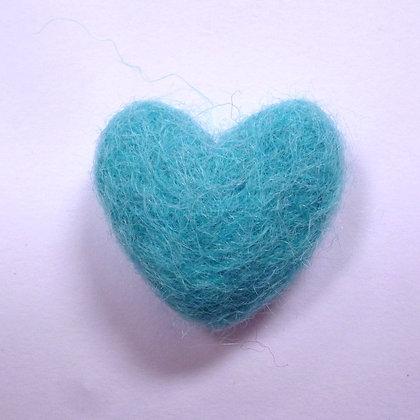 Felt Hearts 100% Wool :: Turquoise