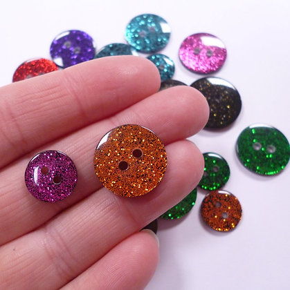 Colourful Glitter Button Pack