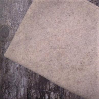 Acrylic Heathered Felt :: 45cm x 100cm :: Natural