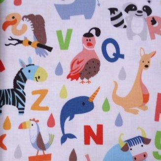 Fabric :: Noah's Ark :: Alphabet Animals