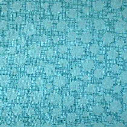 Fabric :: Hash Tag Dot :: Aqua