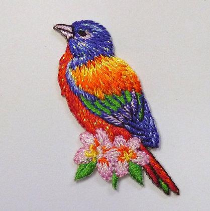 Embroidered Motif :: Tropical Purple Bird
