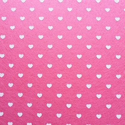 Heart Felt Square :: BRIGHT PINK