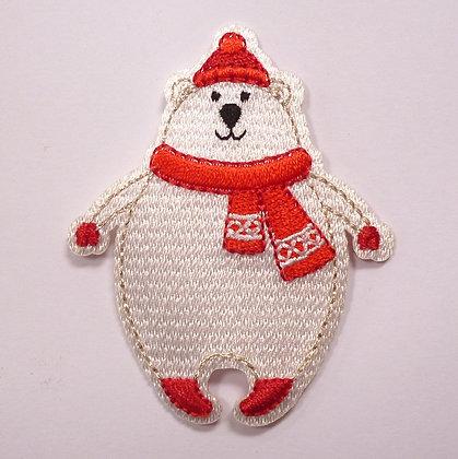 Embroidered Motif :: Wrap Up Warm :: Polar Bear
