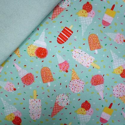 Fabric Felt :: Summerlicious :: Ice Creams on Pale Mint