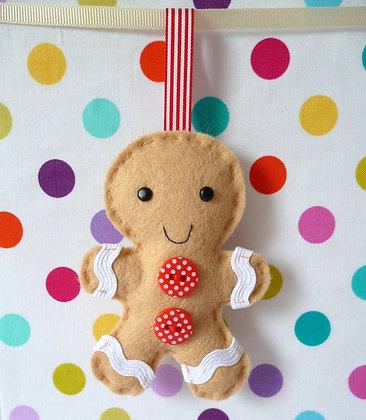 Handmade Mini Christmas Decoration :: Gingerbread Man