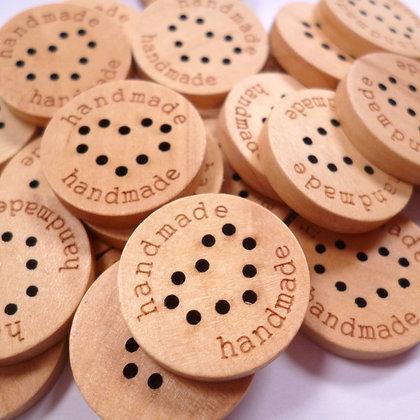 Wooden HANDMADE Button :: Large + Heart