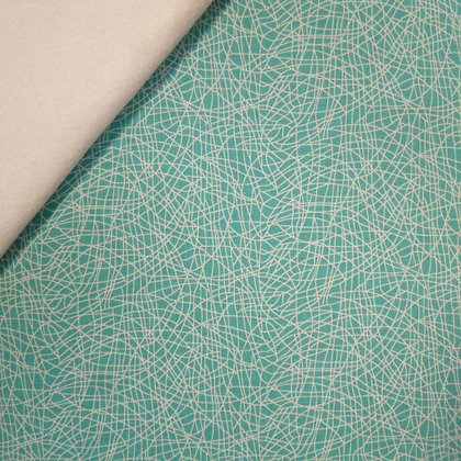 Fabric Felt :: Ava Rose :: Teal Sketch on Natural
