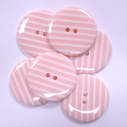 XL Stripe Button :: Pale Pink