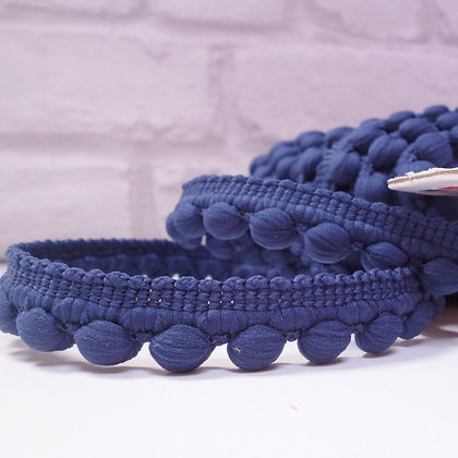 Bobble Trim :: by the metre :: Navy