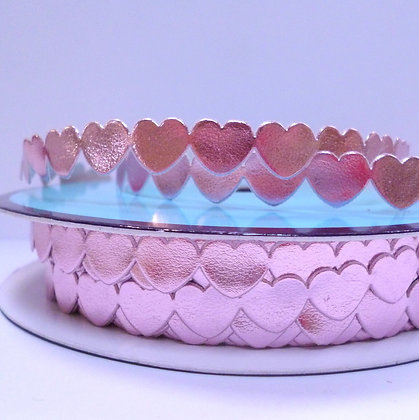 Cut Out Ribbon :: Flat Hearts :: Pale Pink