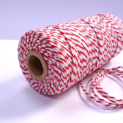 Baker's Twine Candy Stripe :: RED :: by the metre