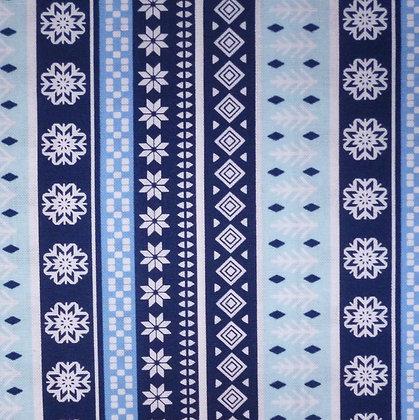 Fabric :: Snow Happy :: Snowflake Stripe