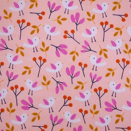 Fabric :: Spring Walk :: Pink Birds