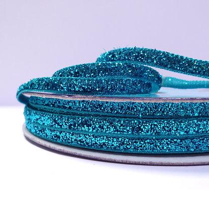 5mm Glitter Velvet Ribbon :: Blue