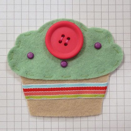 Mint :: Fat Cupcake :: Handmade Embellishment