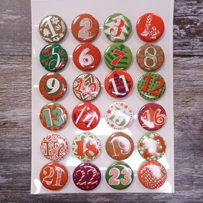 Advent Calendar Badges :: Red & Green