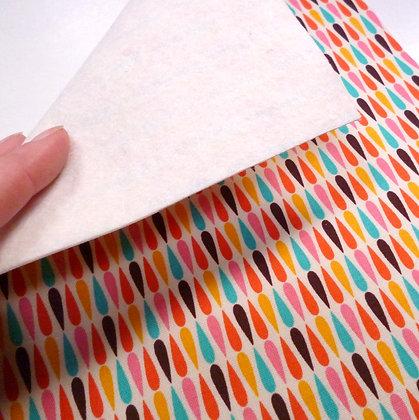 Fabric Felt :: V.K. Multi Drops & Natural