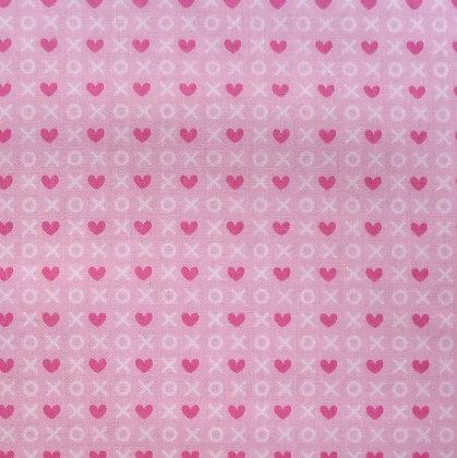 Fabric :: Punny Valentine :: XO hugs and kisses