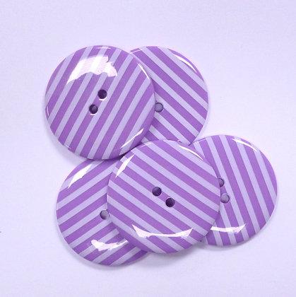 XL Stripe Button :: Purple