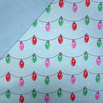 Fabric Felt :: Twinkly Lights on Ice blue LAST FEW