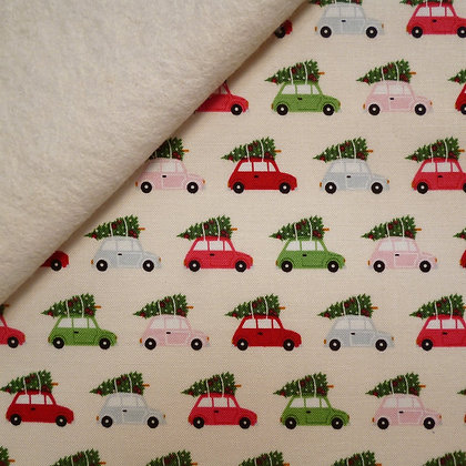 Fabric Felt :: Merry/Bright :: Tree Topped Car on Natural