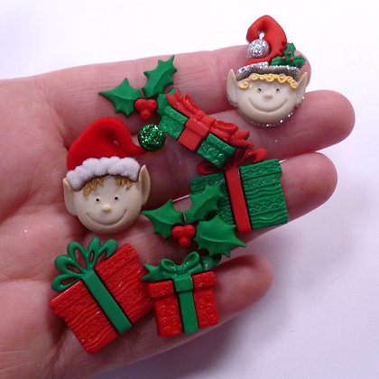 Fantastic Button Packs :: Elves & Gifts