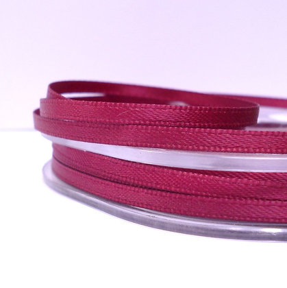 Burgundy :: 3mm Mini Satin Ribbon :: 5m
