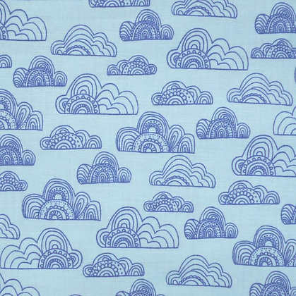 Fabric :: Jungle Fever :: Clouds Turquoise