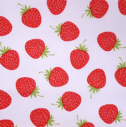 Fabric :: Butterflies & Berries :: Strawberries