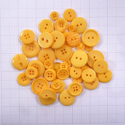 Dyed Buttons By Weight :: Mustard