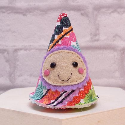 Handmade :: Fabric Felt Happy :: Cool Yule Multi Stripe
