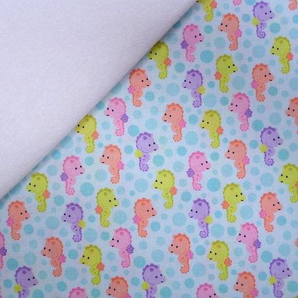 Fabric Felt :: Under The Sea :: Seahorses on White