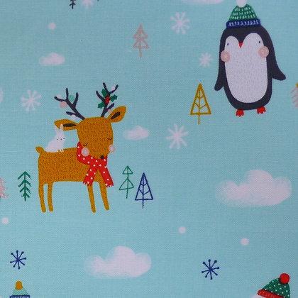SALE Fabric :: Festive Friends :: Woodland Animals