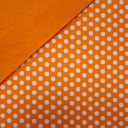 Fabric Felt :: Kiss Dot Orange on Orange
