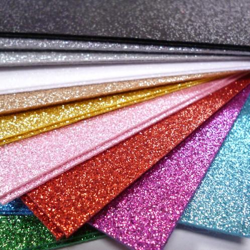 Glitter Felt 12 Colour Rainbow