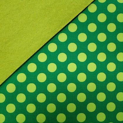 Fabric Felt :: Ta Dot Green on Leaf