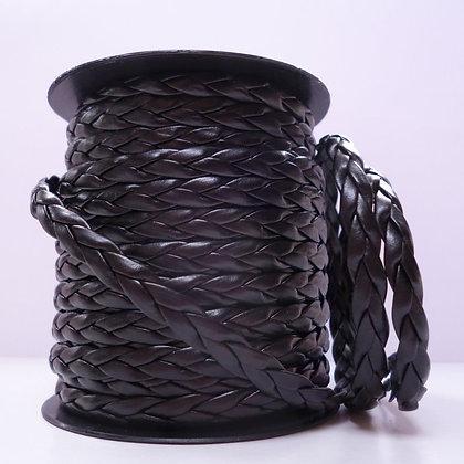 Faux Leather Plait :: Black