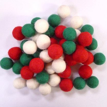 2cm Felt Ball Packs :: Christmas (48x 2cm balls)