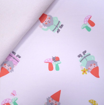 Fabric Felt :: The Gnomes :: Sprout the Gnome (white) on White