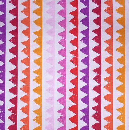 Fabric :: Pets A Plenty :: Coral & Purple Zig Zag