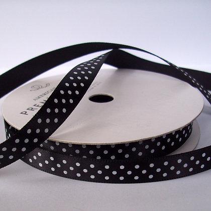 Satin Polka Dot Spools :: Black