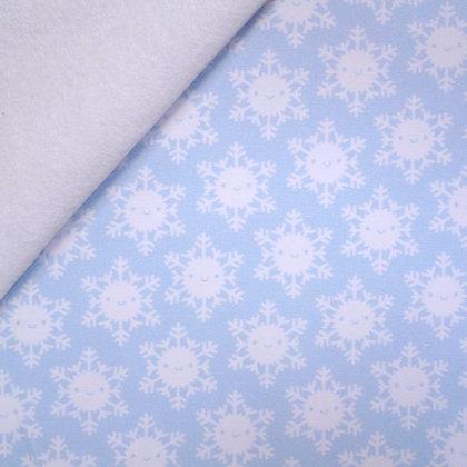 Artisan Fabric Felt :: Happy Snowflakes on white