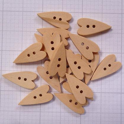 Wooden Button Pack :: Folk Heart